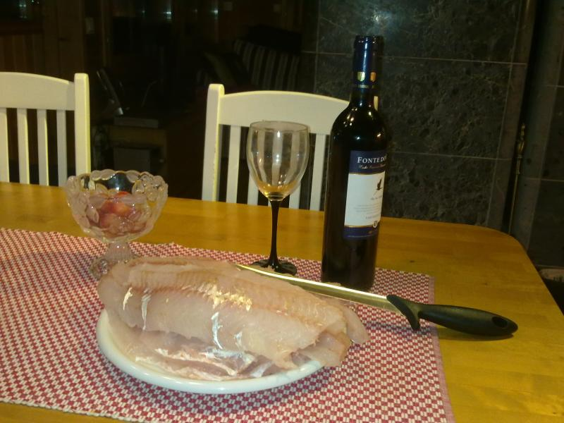 One and half hour after fishing. Let´s cook !!!