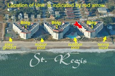 Aerial photo showing location of unit in St. Regis