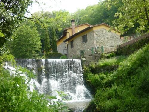 La cascata al entrata