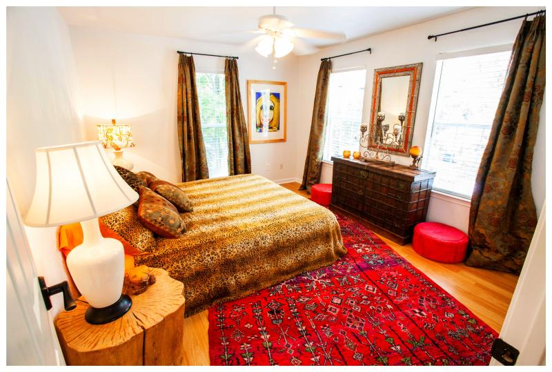 The Elvis Room's Wildflower queen-sized bed is made of all natural fibers.