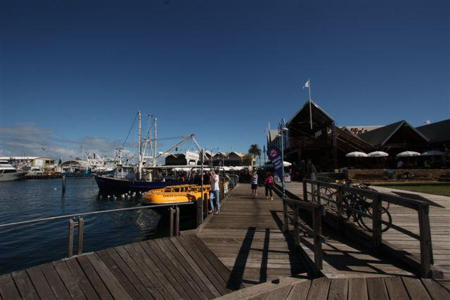 Boardwalk Fishing boat Harbour Fremantle