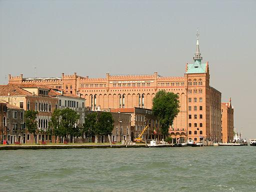 The Molino Stucky Palace from the Giudecca canal