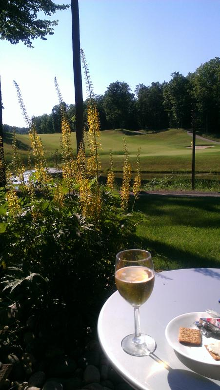 Enjoy your greenside Patio after a round at Cedar, the Legend, Schuss or Summit.