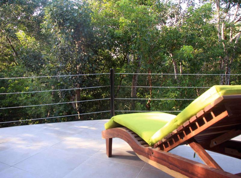 Lounge chair view overlooking the trees