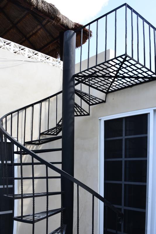 Treppe zur Dachterrasse