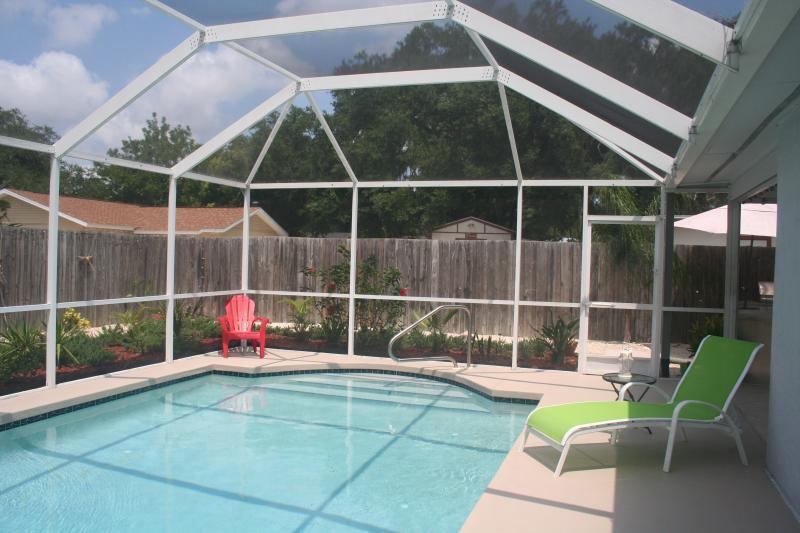 South facing pool