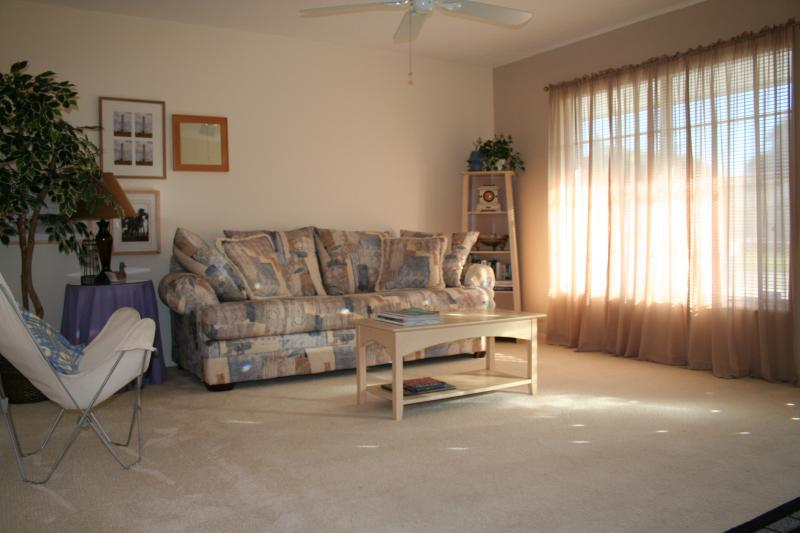 Tranquil Lounge at front of house