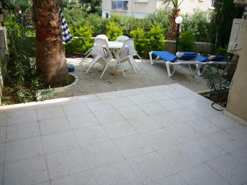 ground floor patio at block 5