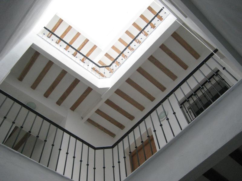 Vista de acceso a apartamentos
