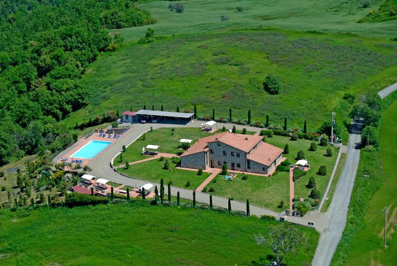vista  aerea della casa