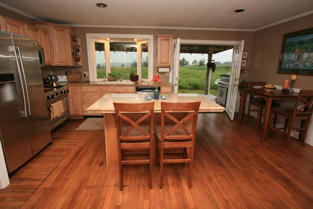 Kitchen with great views