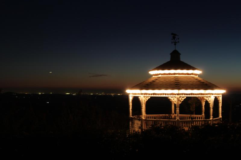 The night sky comes alive while relaxing and sipping wine in our gazebo.