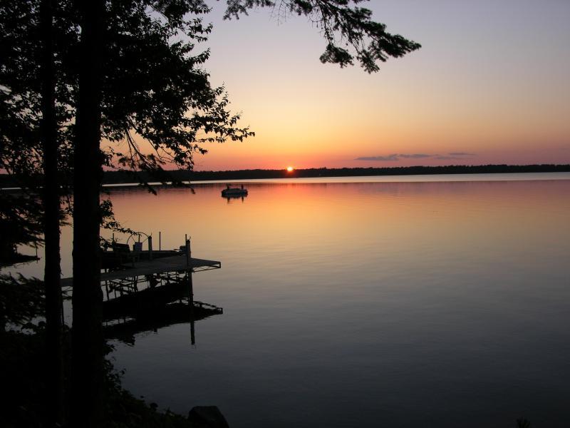 Sunset on Lac Vieux Desert lake
