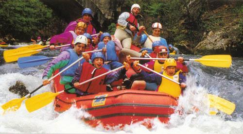 Rafting on the River Aude