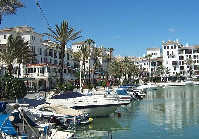 The adjacent marina