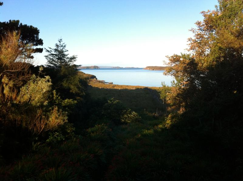 View from the house out to the Summer Isles