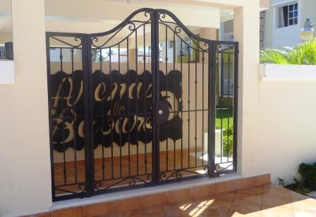 the front gate to Arenas de Bavaro