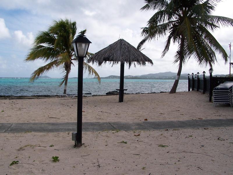 Playa en el complejo