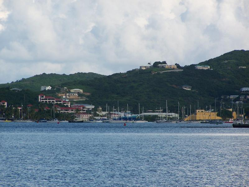 Downtown Christiansted - Telephoto View From Our Beach