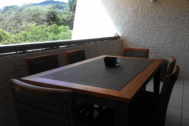 Teak Dining Table For 6 On The Lower Gallery