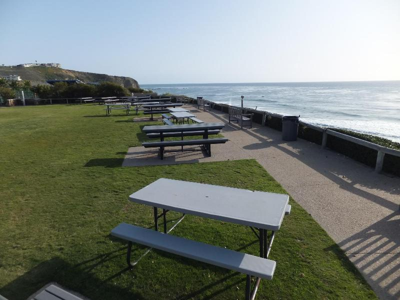 private ocean bluff park. Ocean access is through a gate using an electronic fob