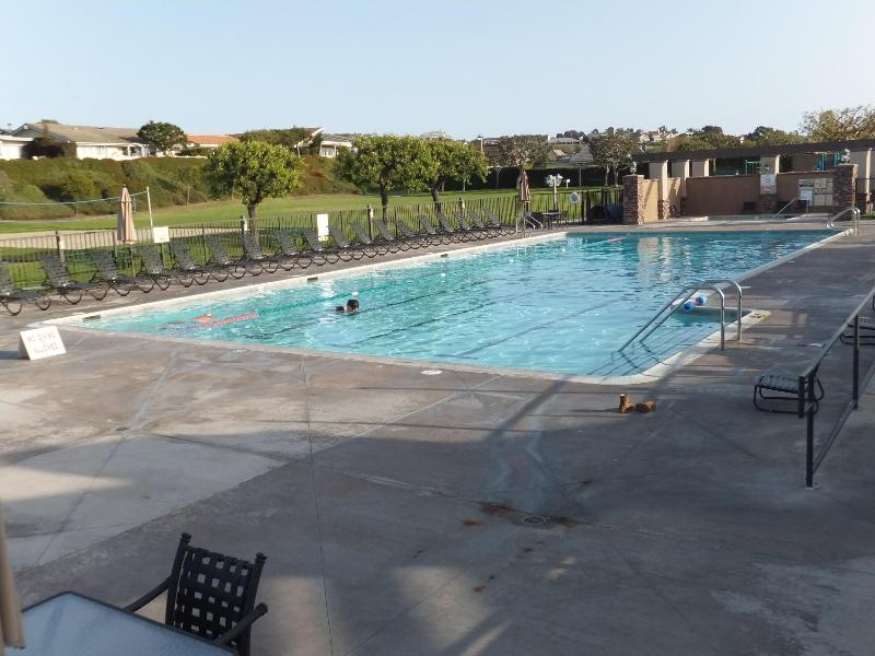private community Junior Olympic heated swimming pool. Five minute walk