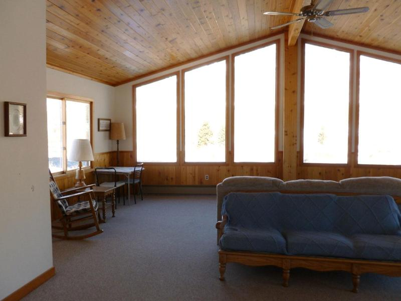 Beautiful view of the Madison River from the living area and deck