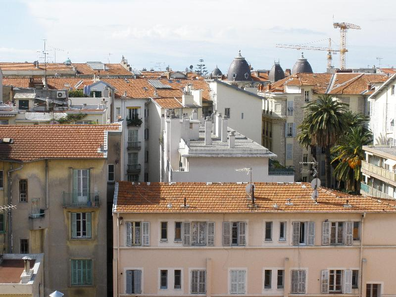 Rooftop view over Nice looking south towards the sea.