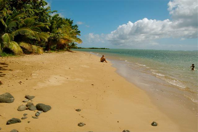 Typical day in Puko'o - relax on the beach - most days you may see a few or no other people.