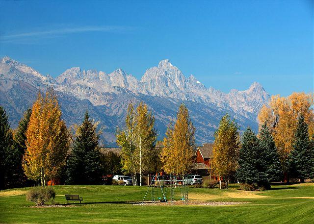 View from common area at Teton Shadows