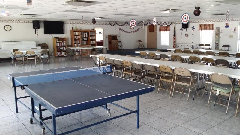 Club House for Ping Pong, Bingo and other activities