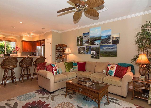 Waikoloa Beach Villas B2 - 2 Bedroom, 2 Bath Ground Floor Villa near Pool!, alquiler de vacaciones en Isla de Hawái