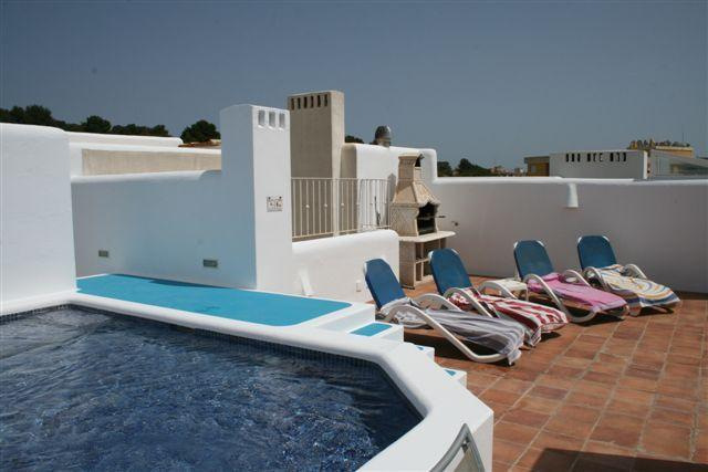 The roof terrace with private plunge pool and bbq