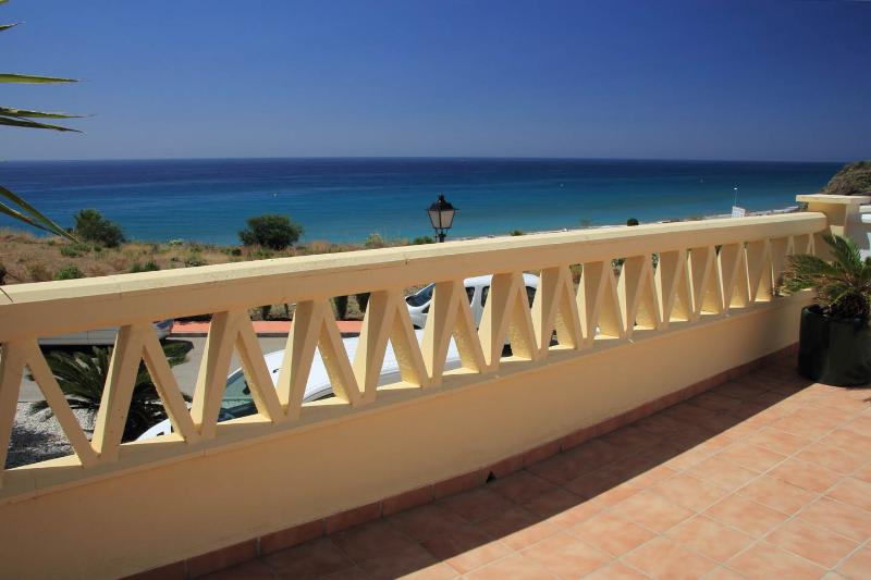 South facing large sunny terrace with uninterrupted sea views :-)