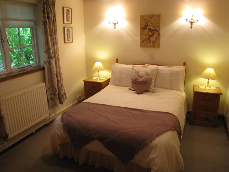 Rose room double on the ground floor, with separate shower room & loo adjacent