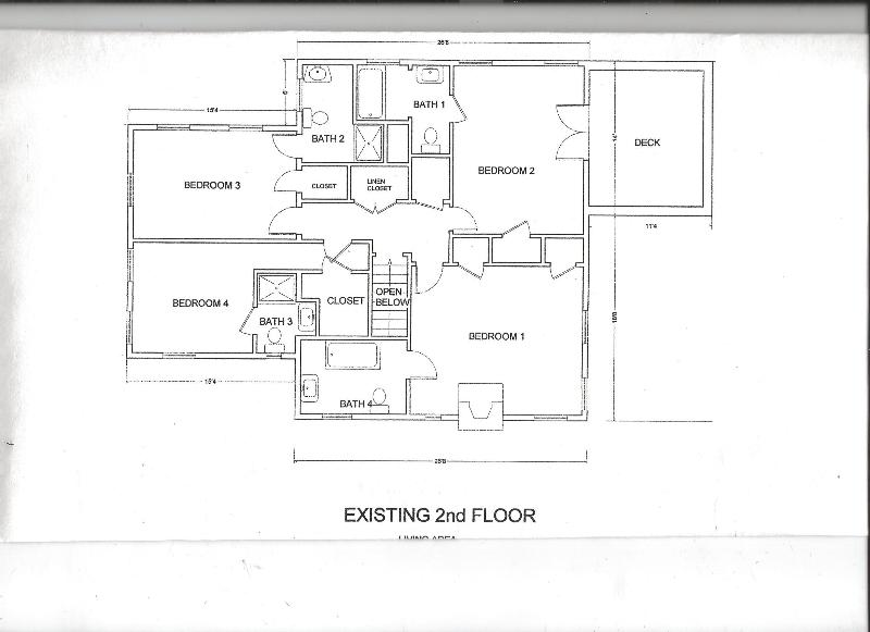 second floor plan shows the 4 bedrooms 4 baths