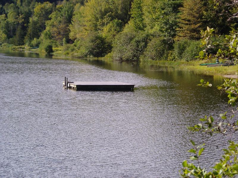 Shared beach at the end of the lake