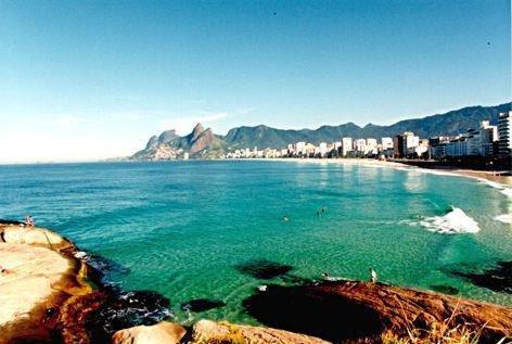 View from Arpoador to Ipanema beach