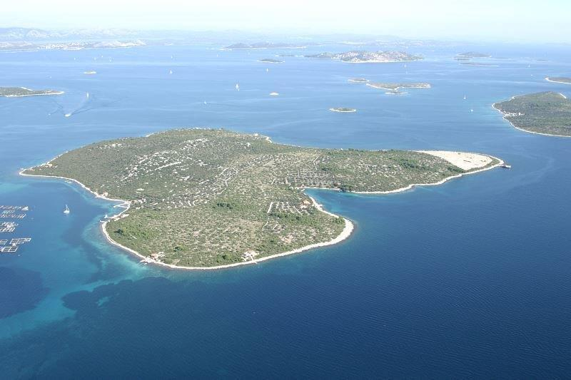 île de Zizanj vue du ciel