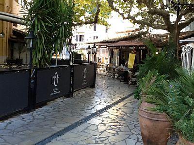 Alguns dos restaurantes em La Napoule