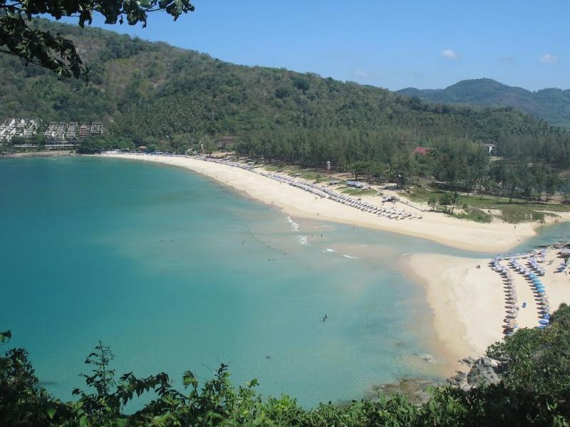 The nearby very popular Nai Harn beach