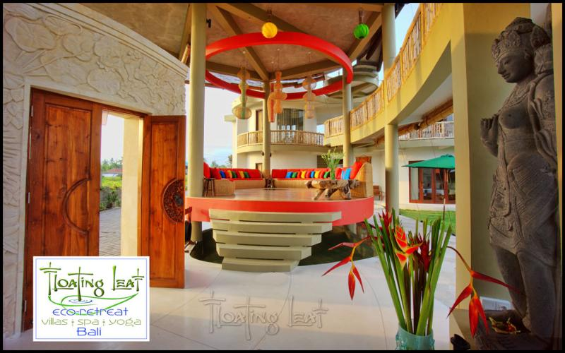 The lobby and main entry lead to The Floating Lounge, the heart of Floating Leaf.