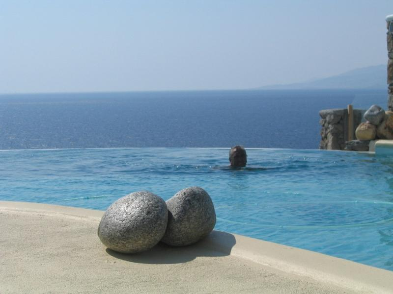 infinity pool with sea water
