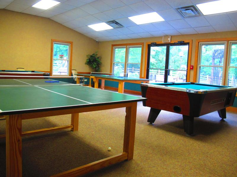 Game room available with amenity package