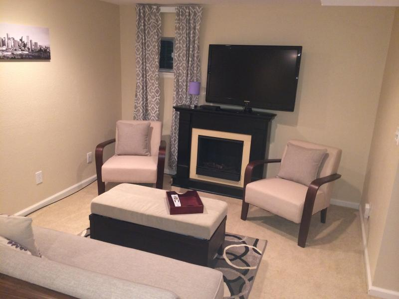 Private living room with directv