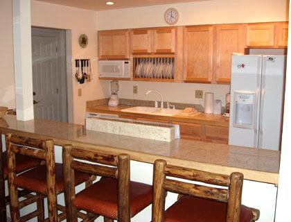 great kitchen with bar