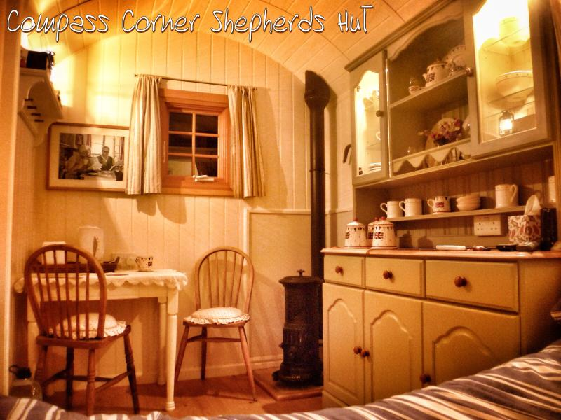 compass corner shepherds hut has dvd player and grill