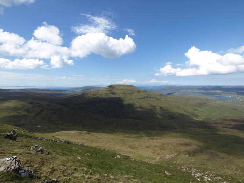 View from the top of Healabhal Bheag.  Glendale to the left and Dunvegan to the right.