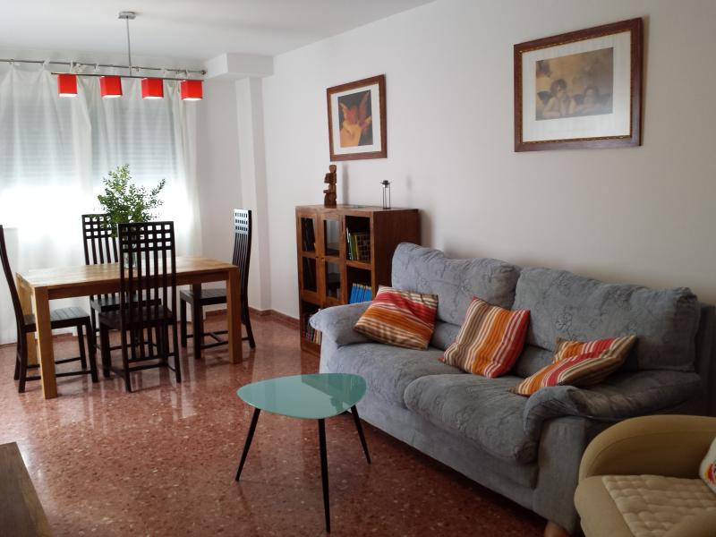 spacious living room of 30 m2 with outside terrace