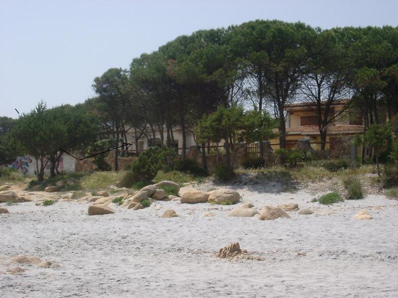 Spiaggia davanti alla casa